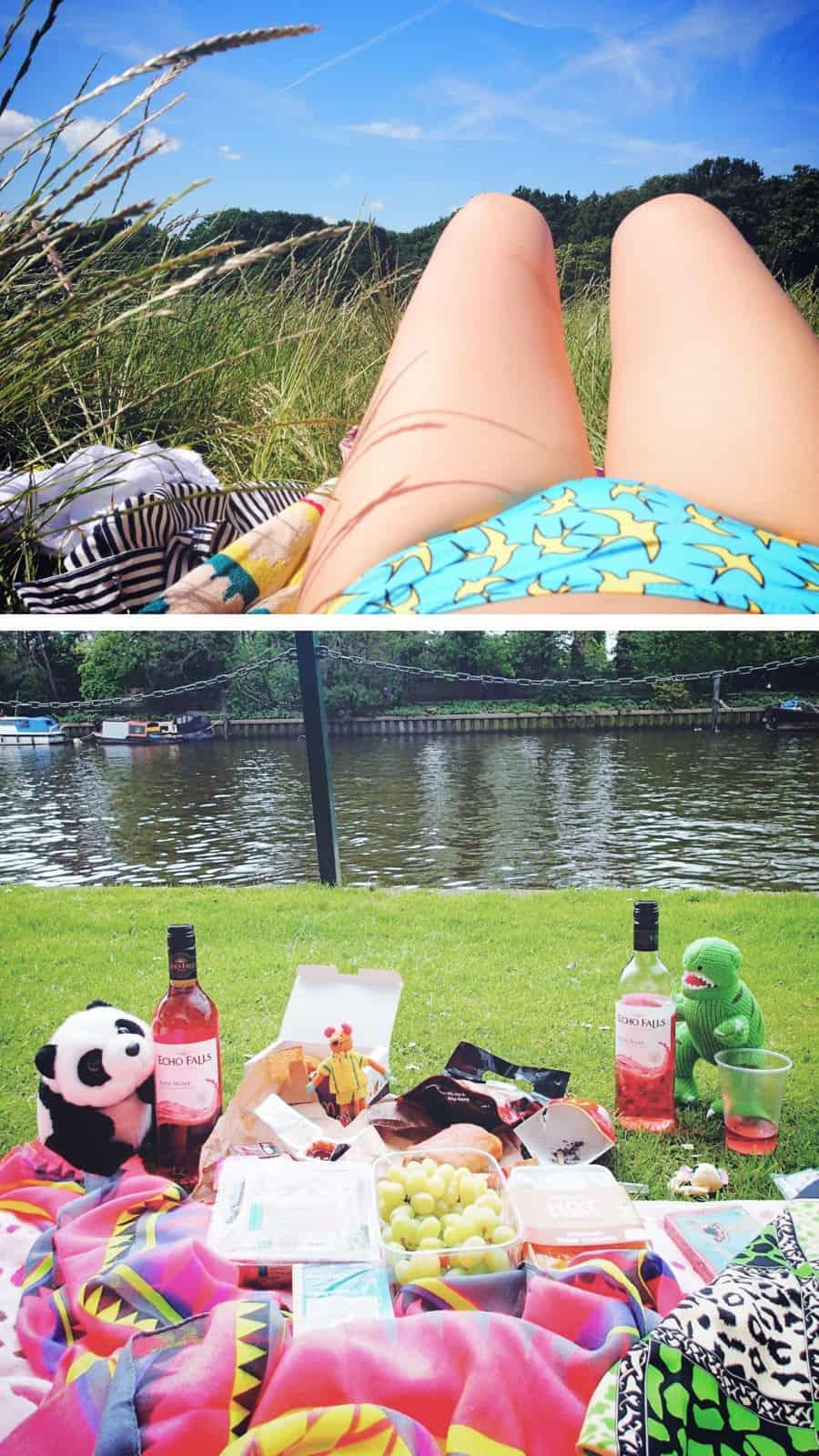 London sunbathing