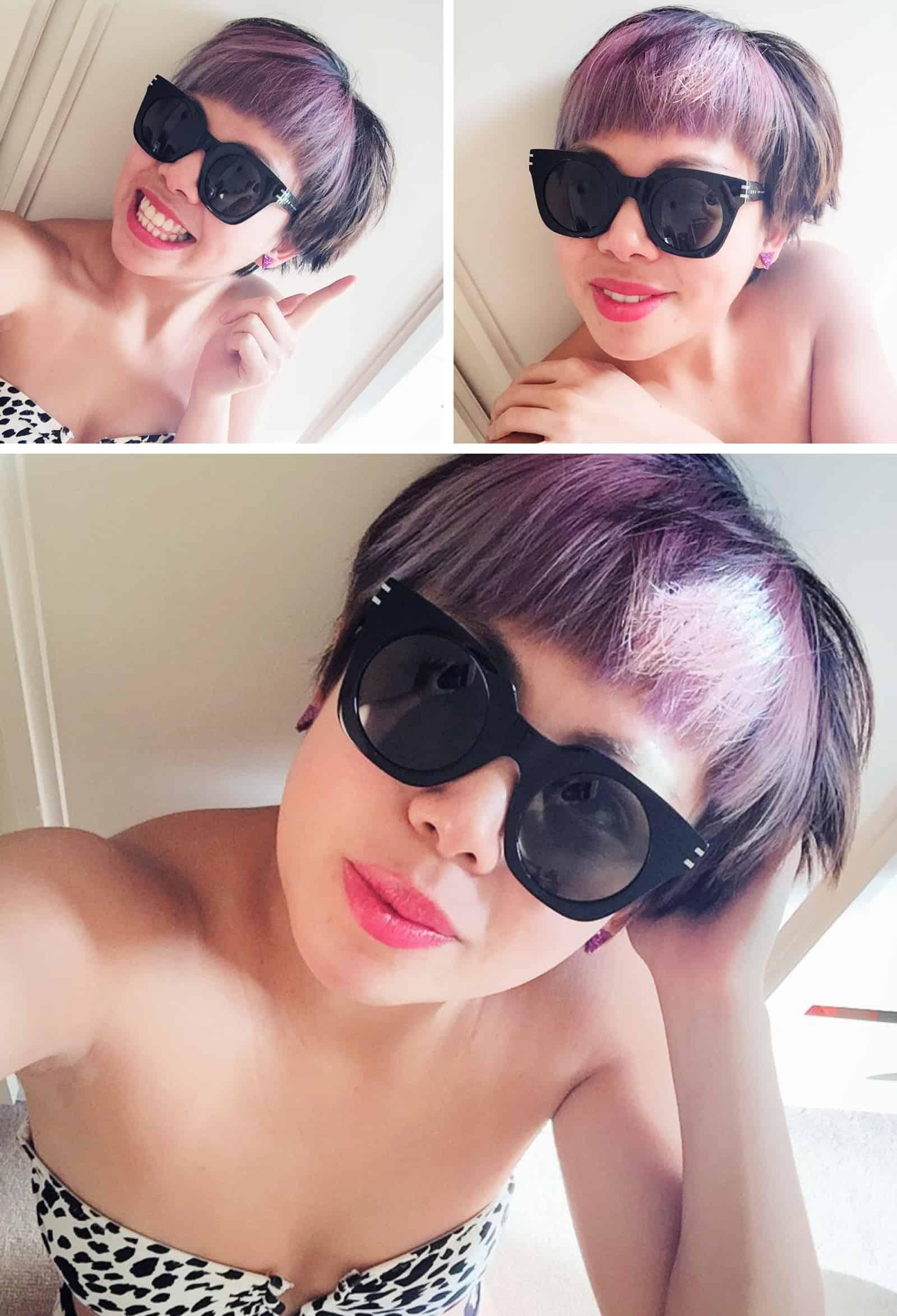 My face & purple hair