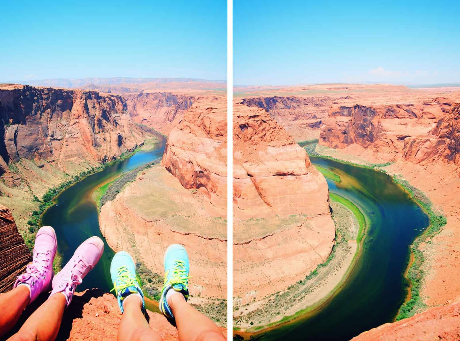 bright shoes at horseshoe bend