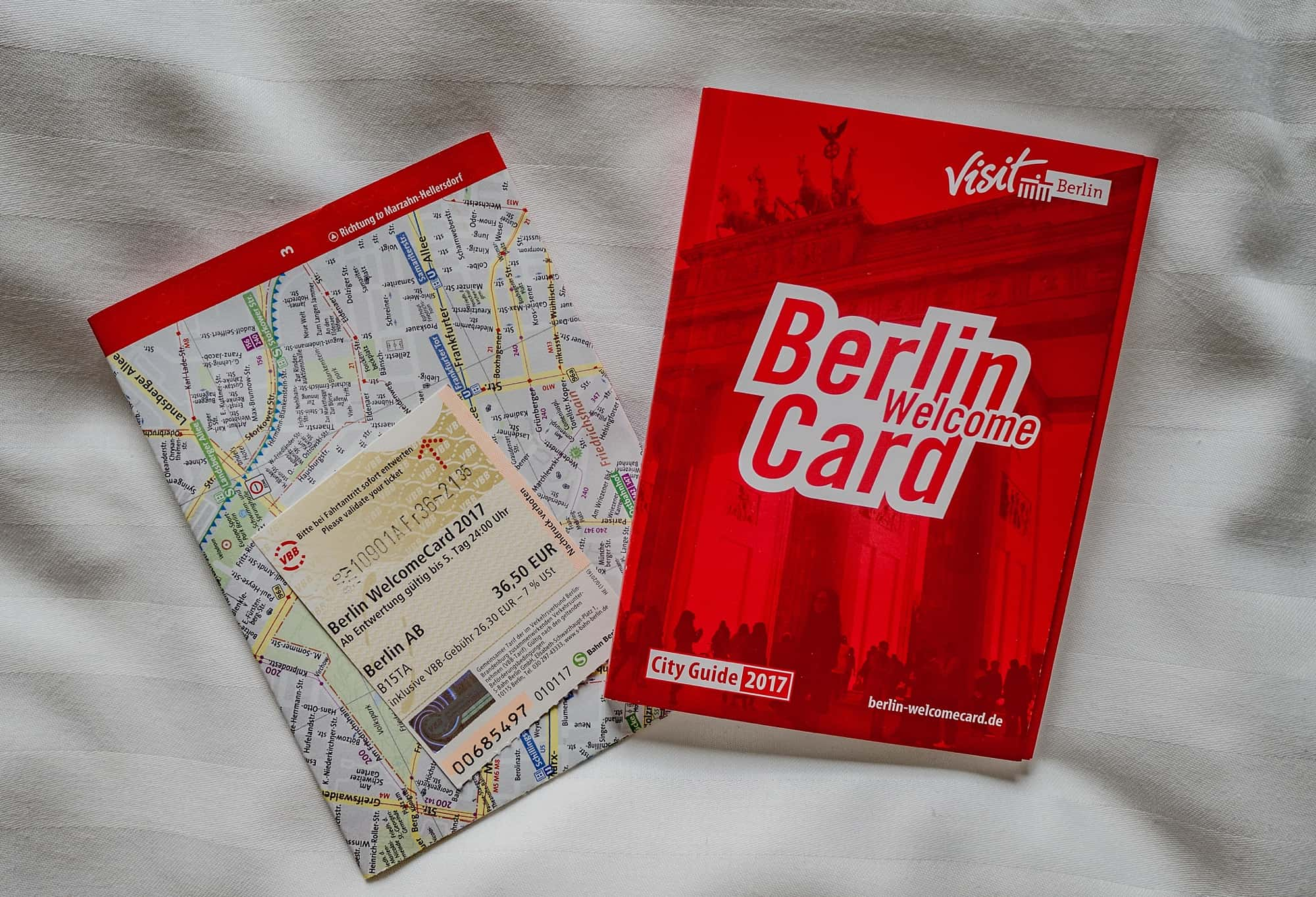 berlin welcomecard with map