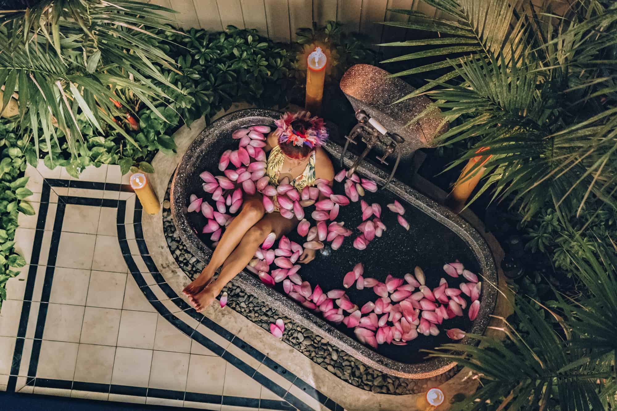 Shinta Mani Flower Bath