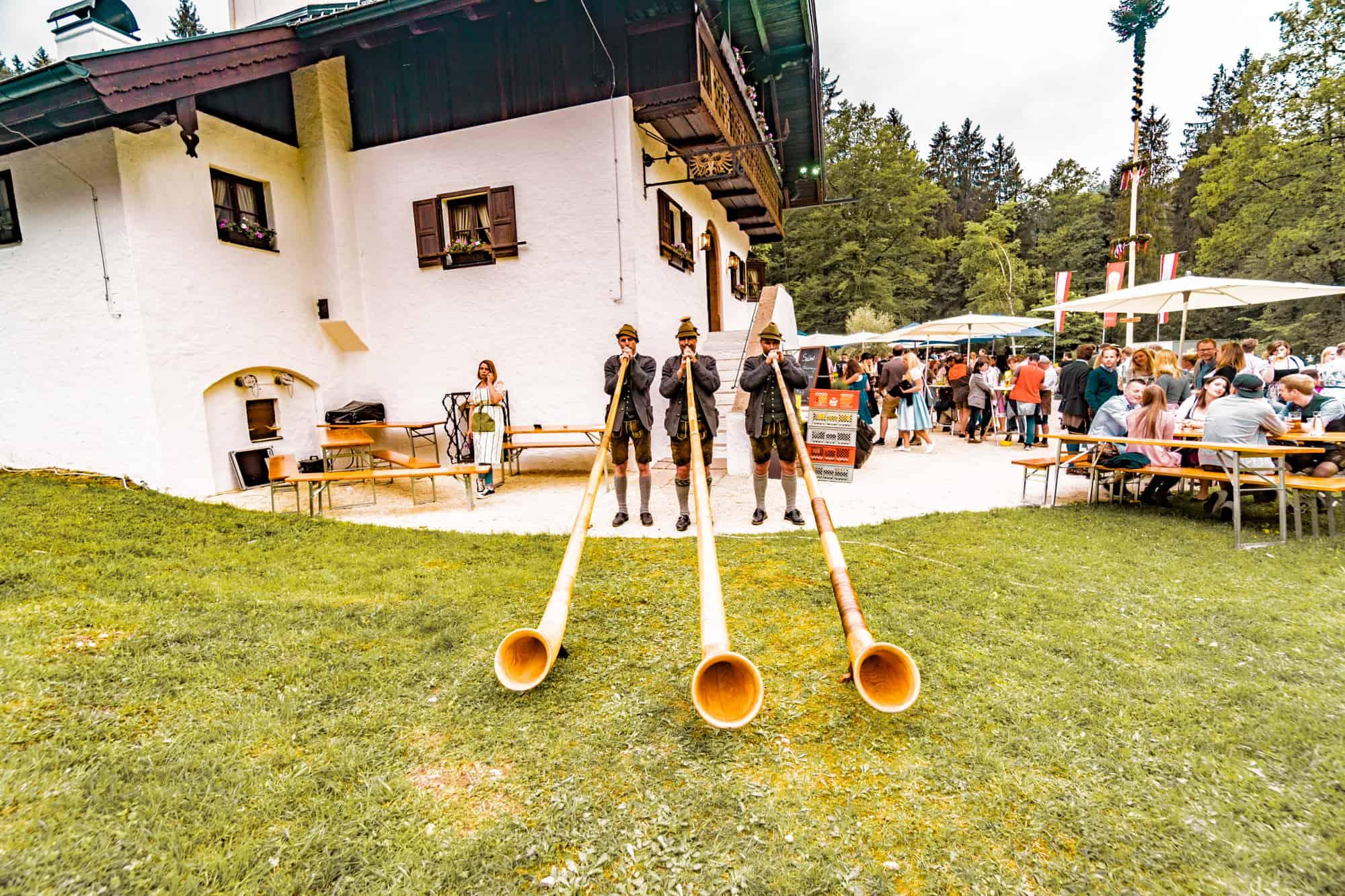 alpine horn trio