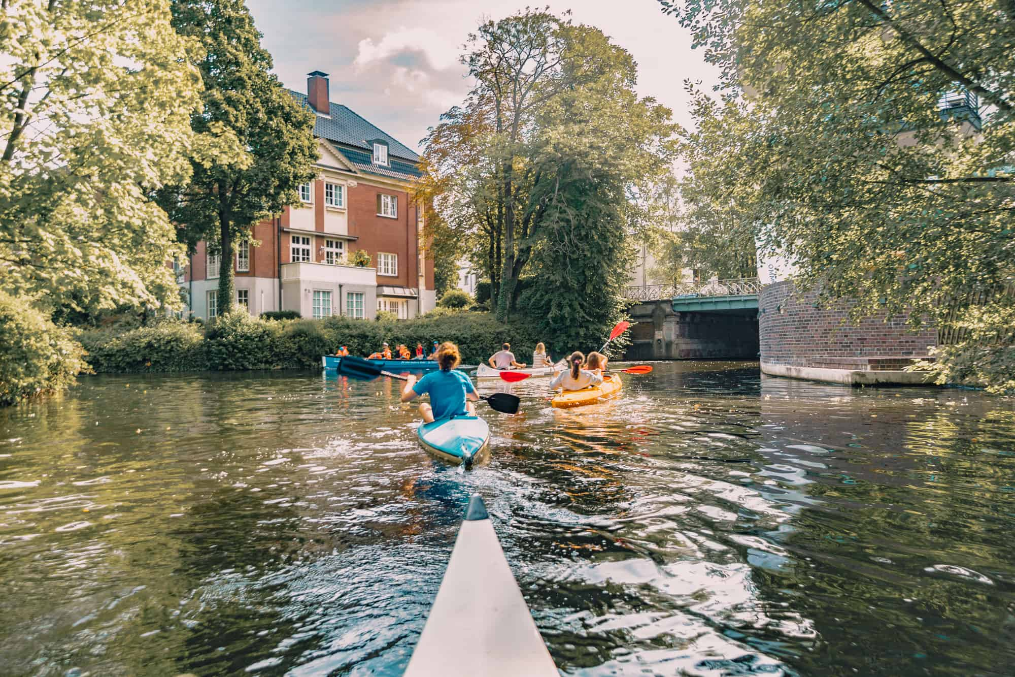 canoeing winterhude hamburg