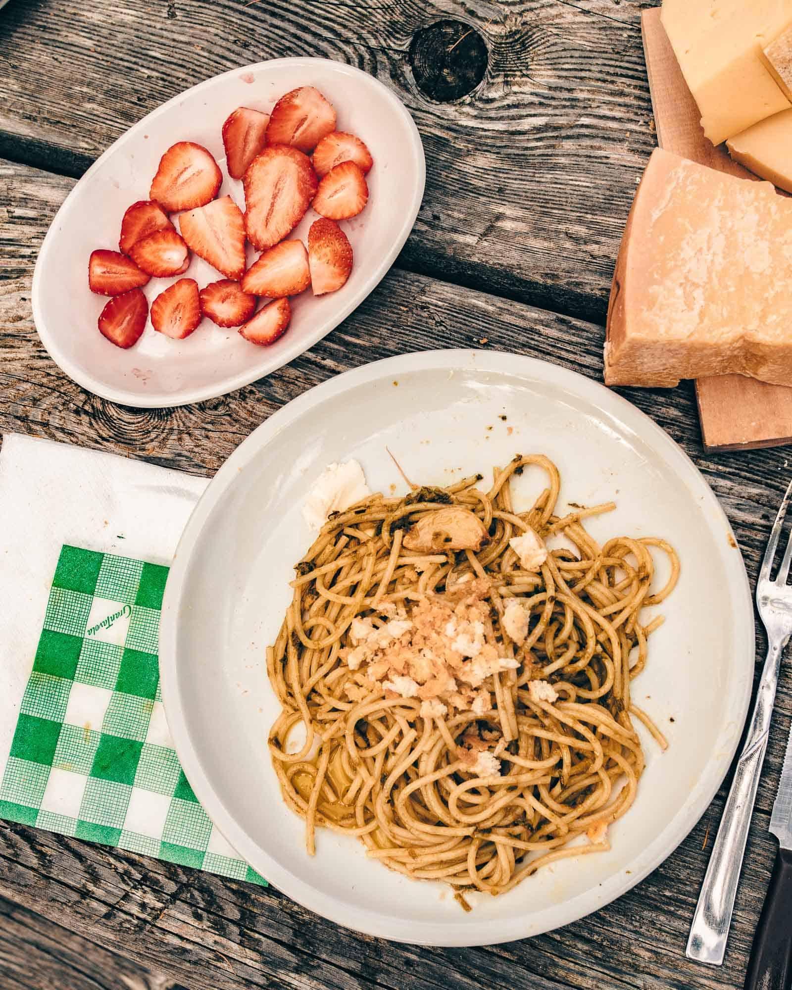 wild garlic pasta